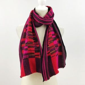 Marc Rozier Paris Wool Cashmere Pink Red Scarf